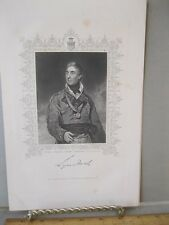 Vintage Print,THOMAS GRAHAM,English General,Steel Engravings,19th Cent