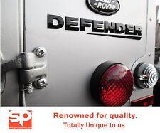 Land Rover Defender Trasero Negro Brillante Letras insignias Bonnet 90 110 embems