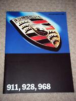 PORSCHE 911 928 968 911 CARRERA 928 GTS BROCHURE 1993 PROSPEKT