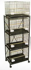 Lot of 4 Bird Breeding Cages 30x18x18 Black With Stand Black 4 X  2473 &T813 354