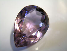 Natural earth-mined large amethyst pear shaped gemstone...26.98 carat
