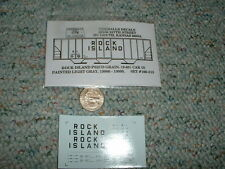 Oddballs decals N Gauge Rock Island PS2CD grain 9-65 car ptd lt grey  H35