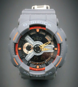 Casio G-SHOCK GA-110TG Grey Sports Theme Analog-Digital Men's Watch