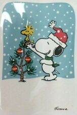 HALLMARK CHRISTMAS CARDS PEANUTS SNOOPY DECORATING CHRISTMAS TREE 3 CARDS