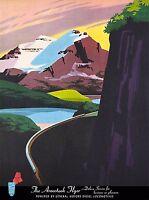 Aroostook Flyer Bangor Maine United States Travel Poster Advertisement Art Print