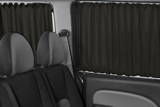 VW T4 TRANSPORTER MULTIVAN Side Rear Interior Sun Shades Curtains Set Black