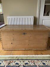 More details for antique pine blanket box.