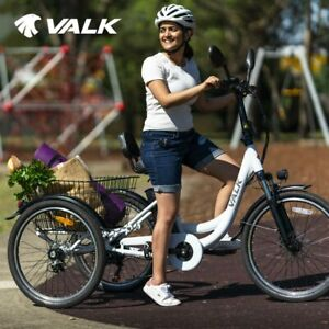 VALK Electric Tricycle Battery Motorised Three 3 Wheel Cargo Adults