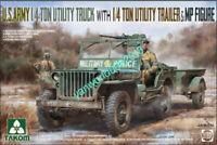 Takom 2126 1/35 U.S.ARMY 1/4 TON UTILITY TRUCK WITH 1/4 TON UTILITY TRAILE