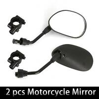 2pcs Universal Black Motorcycle Scooter Mirrors Motorbike Rear View/Side Wing UK