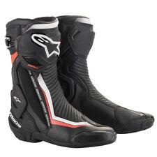 Alpinestars SMX Plus v2 Motorcycle Motorbike Sports Boots Black White Red