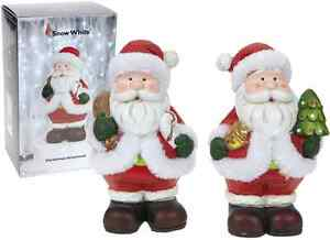 Lovely Traditional Father Christmas Santa Claus Figure 2 Designs Xmas Decoration