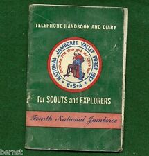 BOY SCOUT 1957 JAMBOREE TELEPHONE HANDBOOK & DIARY - FREE SHIPPING        XX