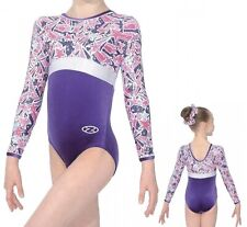 ZONE HALLEY LONG SLEEVE LEOTARD    AGE 9/10.   SIZE 30