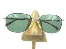 Vintage Seiko T-309 Pure Titanium Large Silver Metal Square Sunglasses Frames