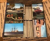 Huge Lot of 2500 Vintage Postcards - Lot of 1950s-1970s Chrome Scenic, States ++