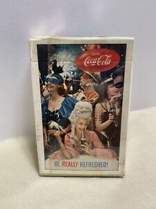 Vintage Coca Cola Masquerade Be Really Refreshed Playing Cards NOS Sealed Stamp
