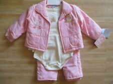 Disney Pooh, Little Roo Baby Girls 18 Months 3 Piece Jacket Pants Set Pink $32