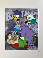 Fan art for THE SIMPSONS - BARTMAN & THE CLOWN - Hand Drawn & Hand Painted Cel