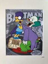 More details for fan art for the simpsons - bartman & the clown - hand drawn & hand painted cel