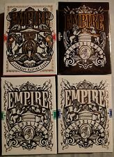 Entire Empire Playing Cards Collection by Lee MkcKenzie - Red Green Blue & Black