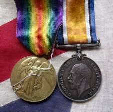 WORLD WAR ONE 1914- 1919 BRITISH WAR MEDAL & VICTORY LINC R FREE UK P&P