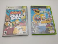 Simpsons: Hit & Run & Simpsons: Road Rage Lot for Microsoft Xbox, Both in Cases
