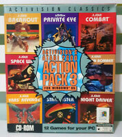 Activision's Atari 2600 Action Pack 1 & 3 for Windows 95 PC Game + Box!