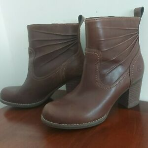 TIMBERLANDS HEELED LEATHER ANKLE BOOTS SIZE 4 37 A11SY