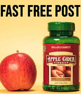 Holland & and Barrett Apple Cider Vinegar 200 Tablets 300mg FAST DISPATCH
