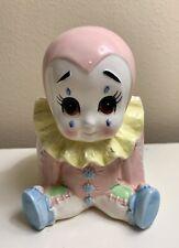 Vintage Ceramic Baby Clown Planter Nursery 5 1/2� Japan