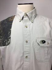 Mossy Oak - Size L - 100% Cotton Beige w/ Camouflage Pad LS Shooter Shirt