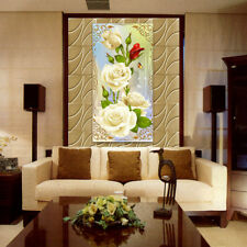 Mosaic White Rose DIY5D Diamant Broderie Peinture Point De Croix Craft Kit