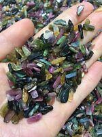 TOURMALINE MIX 7-9mm tumbled 1/4 lb bulk stones xmini green blue pink 115g