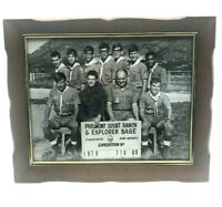 Vintage 1970 Photograph Boy Scout Troop No.16 Massillon Ohio with Frame Philmont