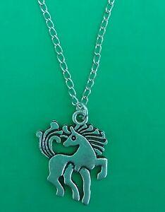 Tibetan Silver FANTASY HORSE Pendant with Necklace- Christmas/Birthday Gift.PONY