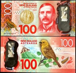 NEW ZEALAND P195* 100 DOLLARS POLYMER* ND2015* UNC GEM* USA SELLER