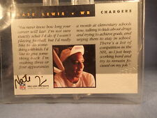 Nate Lewis-1992 PRO LINE CERTIFIED AUTOGRAPH-San Diego Chargers-OREGON I.T.