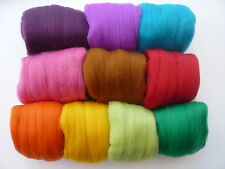 Heidifeathers Merino Lana De Fieltro 'Jelly Bean Mix' 100g) Claro lana Colores