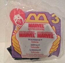 1996 MCDONALD'S HAPPY MEAL MARVEL SUPER HEROES WOLVERINE LOGAN VEHICLE NIP NIB