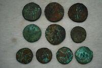 Lot Sale! 10 Pcs Random Mixed Ancient Sasanian,Greek & Roman Bronze Coins