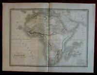 African Continent vast Mts. of Moon 1831 Lapie French large map