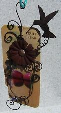 Hummingbird Feeder Fruit Spear metal NEW add your own apple, orange, etc