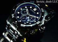 NEW Invicta Men's 48mm Pro Diver SCUBA Chronograph COMBAT Triple Black SS Watch