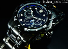 NEW Invicta Men's 48mm Pro Diver SCUBA Chronograph Combat Triple Black SS Watch
