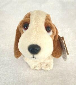 Aurora Hush Puppies Basset Hound Plush Key Ring Zipper Pull Clip On NEW
