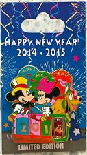 Disney Parks 2014-2015 Happy New Year! Mickey & Minnie Mouse LE Trading Pin LE