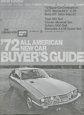 1972 SUBARU 1300G FF-1 Road Test Brochure / Article by M/T; 1300 G