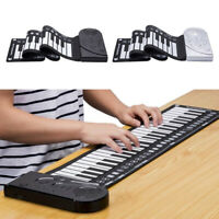 Electronic 49 Keys Roll Up Piano Keyboard Recording Feature for Beginners