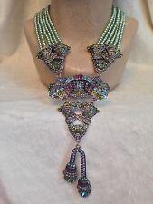 HEIDI DAUS Green Pearl BRILLIANT ABUNDANCE Swavorski Crystal Necklace